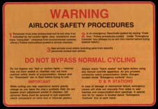 Airlock warning sign, 2271